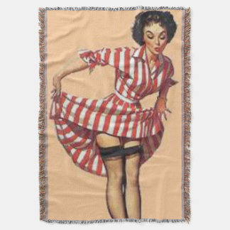 Pin Up Candy Striper Throws Throw Blanket