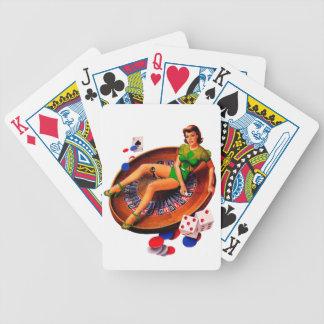 Pin Up Casino Girl Las Vegas Bicycle Playing Cards