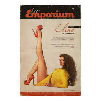 "Pin Up Cover Girl ""The Legs Goddess"" poster"