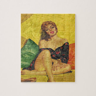 Pin up girl jigsaw puzzle