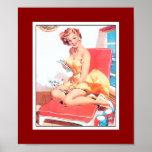 Pin up Girls Art Vintage Retro Print Poster