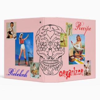 Pin-up Recipe Organizer Vinyl Binder