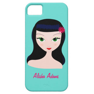Pin-up Retro Babe Iphone Case iPhone 5 Case