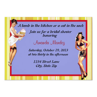 Pin Up shower invitation