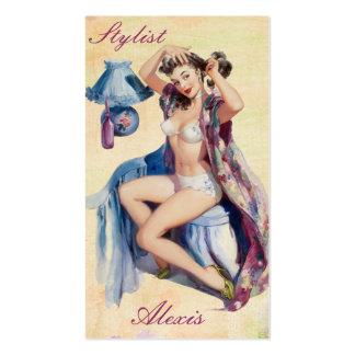 Pin vers le haut des cartes de profil de styliste cartes de visite professionnelles