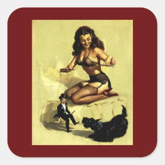 Pin vintage de manipulateur de marionnette d Elvgr Autocollants