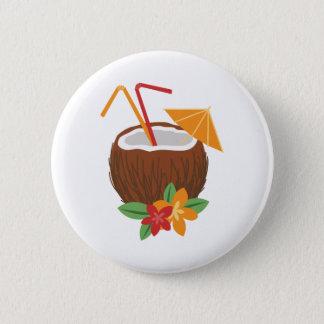 Pina Colada Coconut 2 Inch Round Button