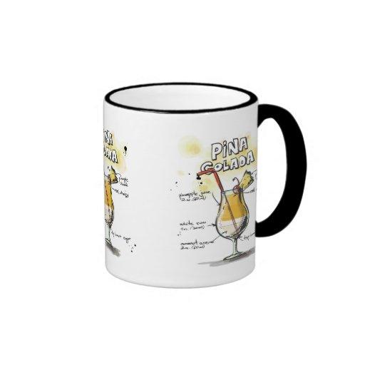 Pina Colada Drink Recipe Design Mug