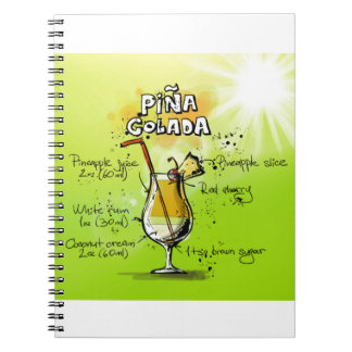 Pina Colada Recipe - Cocktail Gift Notebook