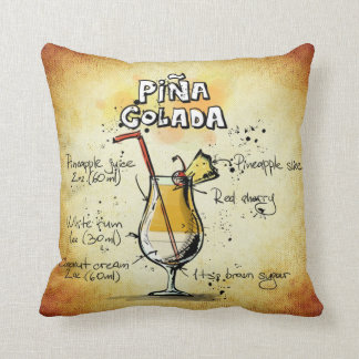 Pina Colada Throw Pillow