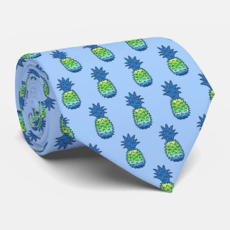 Pina Colata Hawaiian Pineapple Two-Sided Printed Tie