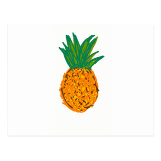 pina fruta pineapple postcard