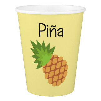 Pina (Pineapple) Paper Cup