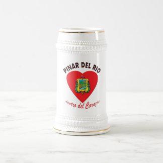 Pinar del Rio dentro del Corazón Crest  - Beer Mug