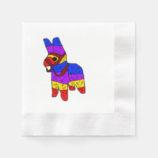 Piñata Cartoon Illustration Disposable Napkins