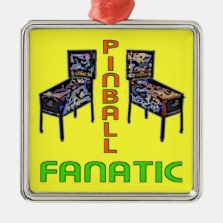 Pinball Fanatic Metal Ornament