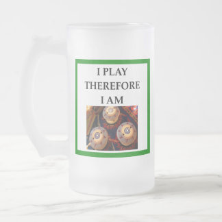 PINBALL FROSTED GLASS BEER MUG
