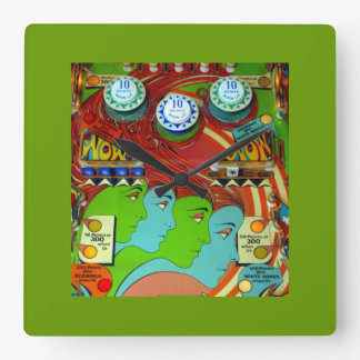 Pinball Wizard II Square Wall Clock