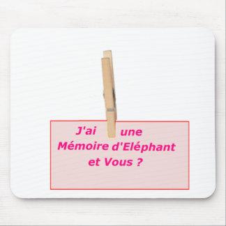 PINCE A LINGE MEMOIRE ELEPHANT 1.PNG TAPIS DE SOURIS