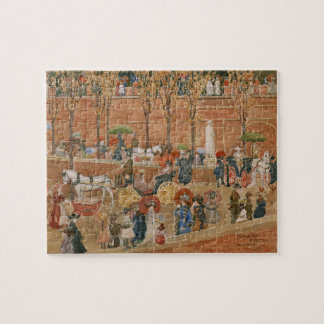 Pincian Hill, Rome by Maurice Prendergast Jigsaw Puzzle