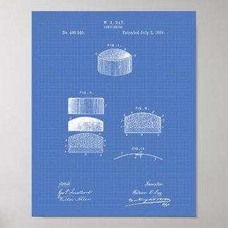 Pincushion 1889 Patent Art Blueprint Poster