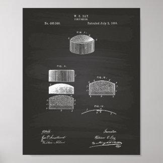 Pincushion 1889 Patent Art Chalkboard Poster