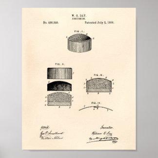 Pincushion 1889 Patent Art Old Peper Poster