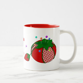 Pincushion Personalized for Those Who Love Sewing Two-Tone Coffee Mug