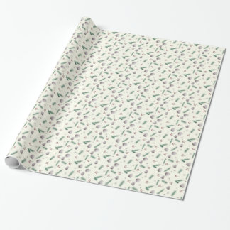 Pine and Berries Winter Holiday Wrapping Paper