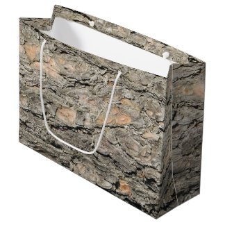 Pine Bark Design Large Gift Bag