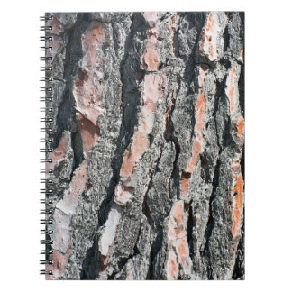 Pine bark pattern notebook