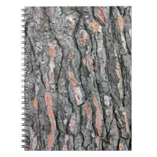 Pine bark pattern notebook