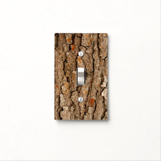Pine Bark Texture Light Switch Cover