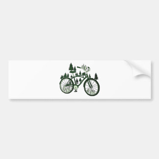 Pine Bike Bumper Sticker