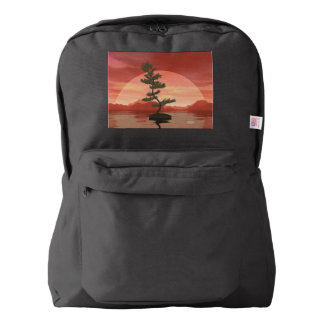 Pine bonsai - 3D render Backpack