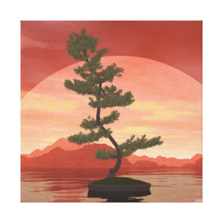 Pine bonsai - 3D render Canvas Print