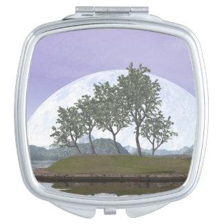 Pine bonsai - 3D render Compact Mirror