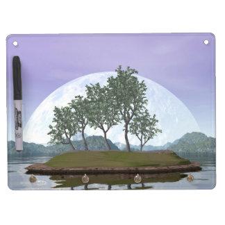 Pine bonsai - 3D render Dry Erase Board With Keychain Holder