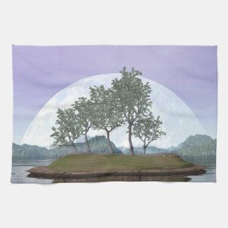 Pine bonsai - 3D render Kitchen Towel