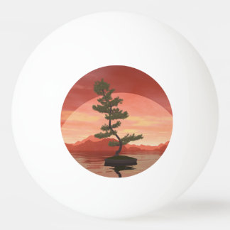 Pine bonsai - 3D render Ping Pong Ball