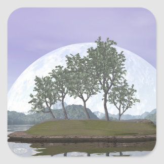 Pine bonsai - 3D render Square Sticker