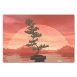 Pine bonsai - 3D render Tissue Paper
