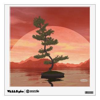 Pine bonsai - 3D render Wall Sticker