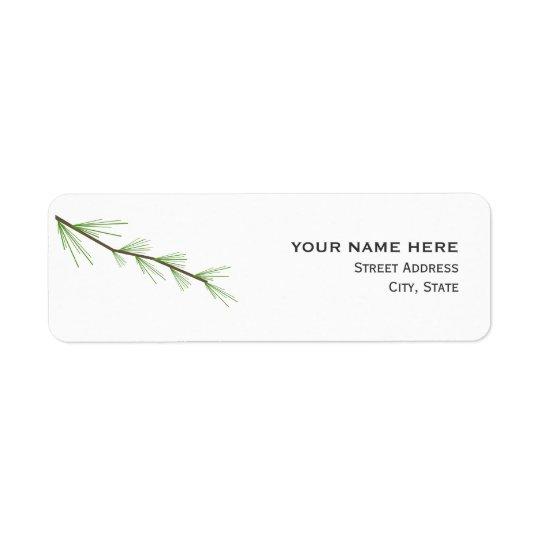 Pine Bough Wedding Address Label
