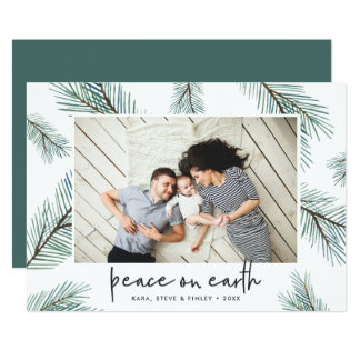 Pine Boughs | Holiday Photo Card