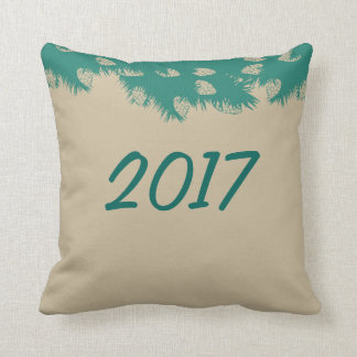 Pine branch throw pillow