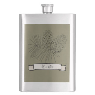 Pine Branch Two Flasks
