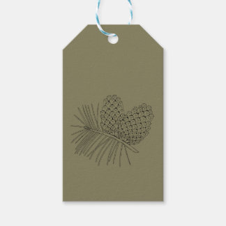 Pine Branch Two Pack Of Gift Tags