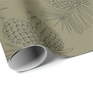 Pine Branch Two Wrapping Paper