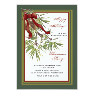Pine Branches - Holiday Party Invitation